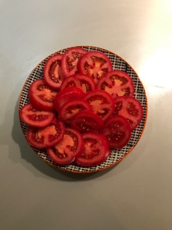 fresh tomatoes marinated in olive oil